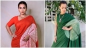 Vidya Balan in red saree for Shakuntala Devi promotions reminds us of Dia Mirza. See pics