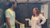 Hazel Keech trolls Yuvraj Singh after his mother shoots video of him cleaning utensils
