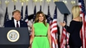 Melania Trump greets Ivanka with a smile and an eye roll at RNC. Viral video