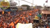 Fact Check: Image showing sea of saffron flags has no link with Ayodhya Bhoomi Pujan