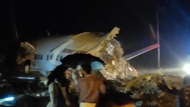 Air India Express flights skids off runway in Kozhikode, pilot dead