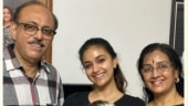 Keerthy Suresh celebrates her parents' wedding anniversary at home. See pics