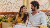 A loved-up photo of Rana Daggubati and Miheeka Bajaj from their haldi ceremony. (Photo Credit: Reels and Frames)