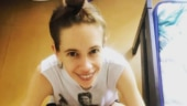 Kalki Koechlin does the wheel pose in new workout post with adorable yoga partner