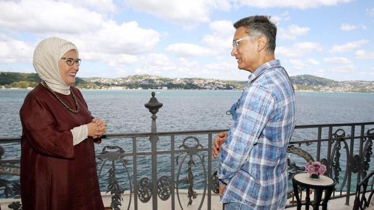 Turkish First Lady Emine Erdogan with Aamir Khan in Istanbul. Photo: Twitter/Emine Erdogan
