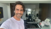 Arjun Rampal sweats it out in new workout post. See Gabriella Demetriades's comment
