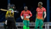 CPL 2020: Pakistan batsman Asif Ali in trouble after nearly hitting Keemo Paul with an angry bat swish