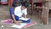 Boy who writes, paints with toes secures first class marks in Karnataka SSLC exam