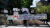 Indian-Americans protest China's aggression against India; human right violations of Uyghurs