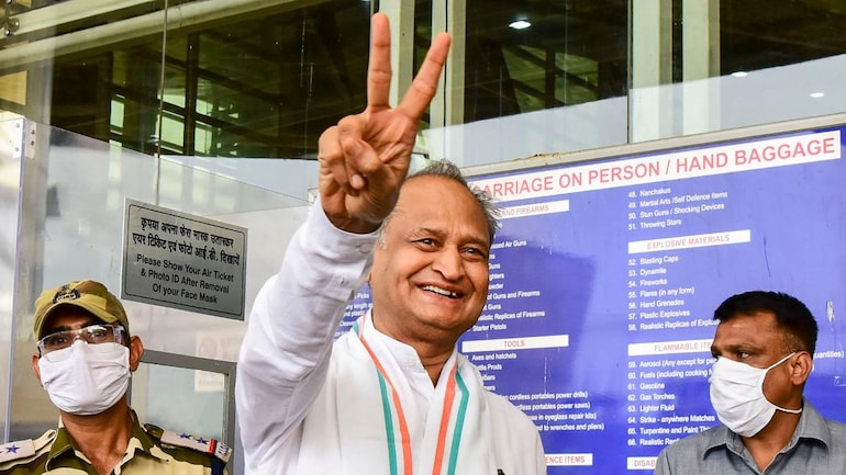 Rajasthan: Congress out of troubled waters, CM Ashok Gehlot wins ...