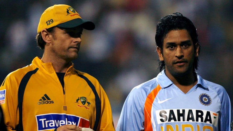 Adam Gilchrist with MS Dhoni (Reuters Photo)
