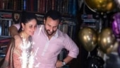 Kareena Kapoor kisses Saif Ali Khan, flaunts baby bump on his 50th birthday. Inside pics, videos