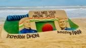 Sudarsan Pattnaik pays tribute to MS Dhoni and Suresh Raina with amazing sand art