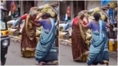 Two elderly women dance to Asha Bhosle's hit song Piya Tu Ab Toh Aaja on a street. Viral video