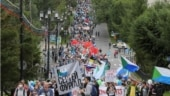 Putin, have some tea: Russian city holds eighth anti-Kremlin protest