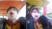Trending now: Japan theme park gives scream stickers to people for rides