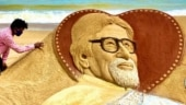 Sudarsan Pattnaik celebrates Amitabh Bachchan's Covid-recovery with stunning sand art