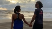 Ankita Konwar shares dreamy pic with hubby Milind Soman at the beach. Don't miss his comment