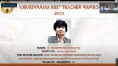 Jamia Hamdard faculty receives AICTE Visvesvaraya Best Teachers' Award 2020