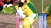 England trolled after opting for review as ball clearly hits middle of Aaron Finch's bat in 2nd T20I