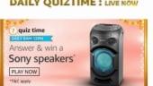 Amazon app quiz September 29, 2020: Amazon sony speakers quiz answers