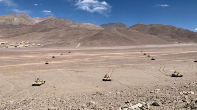 Exclusive: First visuals of Indian Army's tanks battle-ready to take on China in Ladakh