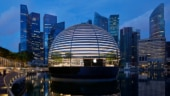 Apple's first floating glass retail store opens at Marina Bay Sands in Singapore