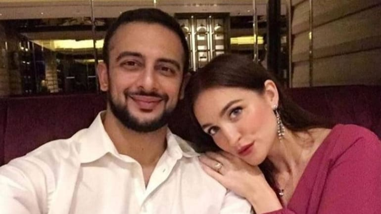 Arunoday Singh and Lee Elton tied the knot in 2016.