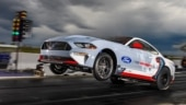 Ford's all-electric Ford Mustang Cobra Jet 1400 blitz past old records