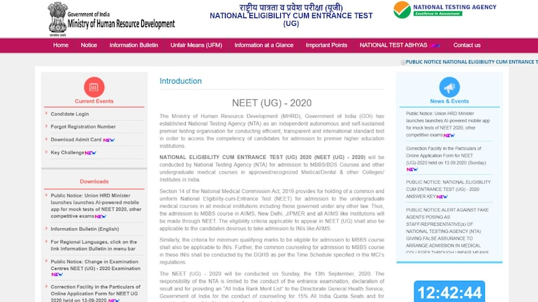 Neet Result 2020 To Be Declared Soon Check Latest Nta Neet Result Updates Education Today News