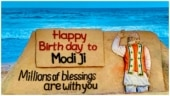Sudarsan Pattnaik wishes PM Modi happy birthday with stunning sand art: Millions of blessings are with you