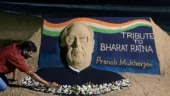Sudarsan Pattnaik pays tribute to Bharat Ratna Pranab Mukherjee with sand art