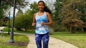 Ankita Konwar goes for a run in pic clicked by hubby Milind: What makes you happy as a runner?