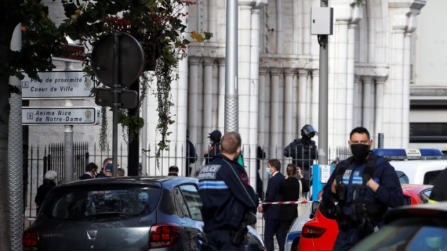 Terror attack inside church in France's Nice; woman beheaded, 2 others killed