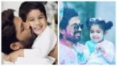 Allu Arjun's kids Ayaan and Arha dance like Pennywise, actor can't control his laughter