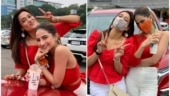 Shweta Tiwari is twinning in red with daughter on birthday, netizens declare the glam duo sisters