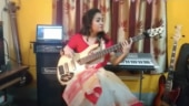 Saree-clad woman plays bass guitar cover of Sea Of Lies in viral video. Twitter gives a thumbs up
