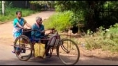 Odisha woman carries disabled husband on tricycle for 18 km to collect pension