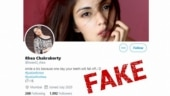 Fact Check: Rhea did not tweet on her bail, it's a fake account