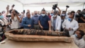 Videos of archaeologists opening a mummy coffin in Egypt go viral. Watch
