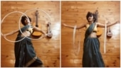 Eshna Kutty dances to Chinnamma Chilakkamma in saree with two hoops. Internet loves viral video