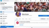 Congress cries foul over Facebook blocking Meira Kumar's page ahead of Bihar election