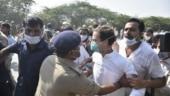 High drama on Yamuna Expressway as police detain Rahul, Priyanka on way to Hathras | 10 points