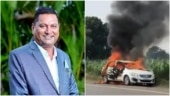Nashik NCP leader Sanjay Shinde burnt alive after car short-circuits, catches fire