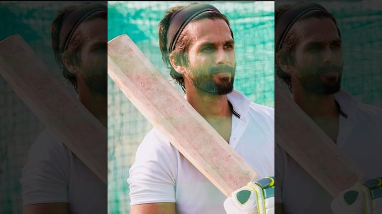Shahid Kapoor is playing the role of a cricketer in Jersey.