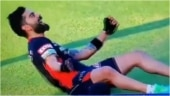 Virat Kohli dancing on pitch before RCB vs KXIP match leaves netizens in splits. Viral video