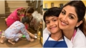 Shilpa Shetty makes rangoli with son Viaan for Diwali in new video. Watch