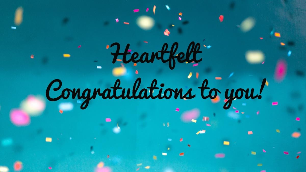 Congratulations messages, wishes, quotes, and images   Information ...