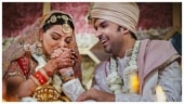 Kajal Aggarwal and Gautam Kitchlu in new wedding pics on Instagram. Just gorgeous