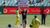 India vs Australia, 1st ODI: 2 protesters barge in between game, hold 'No $1B Adani Loan' signs